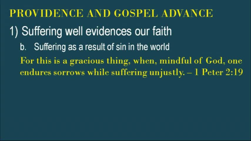 Providence And Gospel Advance