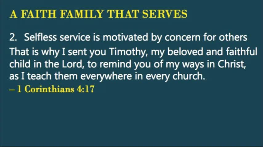 A Faith Family That Serves