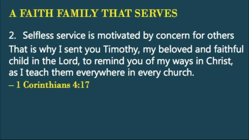 A Faith Family That Serves